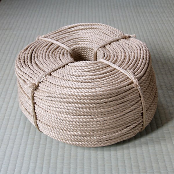 Photo1: Original jute rope (Natural color,6mm×300m in roll,Untreated) (1)